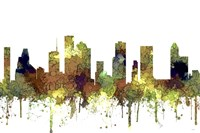 Houston Texas Skyline - Safari Buff Fine Art Print