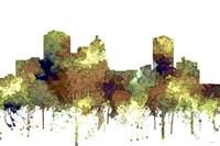 Montgomery Alabama Skyline - Safari Buff Fine Art Print