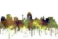 San Antonio Texas Skyline - Safari Buff Fine Art Print