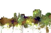 Trenton New Jersey Skyline - Safari Buff Fine Art Print