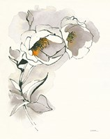 Carols Roses II Taupe Fine Art Print