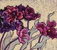 Ruffled Tulips Beige Fine Art Print