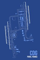 CDG Airport Layout Fine Art Print