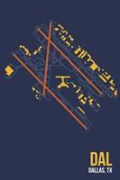 DAL Airport Layout Fine Art Print