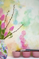 Tulips and Paint Brushes Fine Art Print