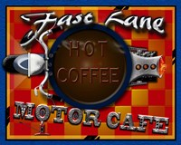Fast Lane Motor Cafe Fine Art Print