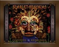 Scarlet Begonias Coffee & Remedies Fine Art Print