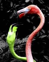 Flamingos Pink & Green Fine Art Print