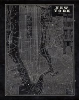 Blueprint Map New York Fine Art Print