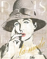 Fashion Week Paris Screenprint IV Fine Art Print