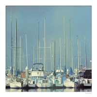 Harbor Boats Blue Sky Fine Art Print