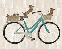Doxie Ride ver II Fine Art Print