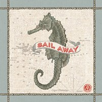 Drift Away Seahorse Fine Art Print
