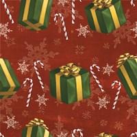 Santas List Pattern X Fine Art Print