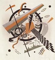 Komposition mit Schachbrettstreifen, 1922 Fine Art Print