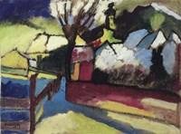 Herbstlandschaft mit Baum (1910) Fine Art Print