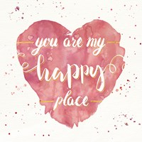 Happy Hearts II Pink Framed Print