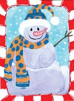 Happy Snowman I Fine Art Print