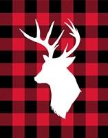 Deer Lumberjack Framed Print