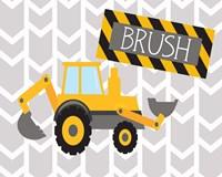 Construction Brush Framed Print