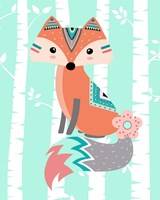 Tribal Fox Girl II Framed Print