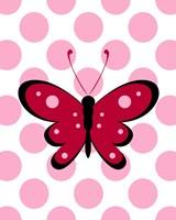 Butterfly Polka Dots Framed Print