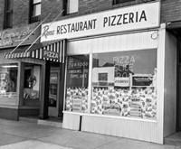 1960s Restaurant Pizzeria Storefront Fine Art Print