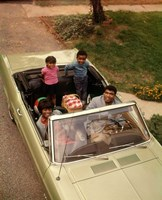 1970s African American Family Seated In Convertible Car Fine Art Print