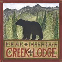 Bear Mountain Creek Lodge Framed Print