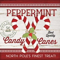 Candy Canes Framed Print