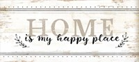 Home is My Happy Place Framed Print