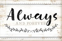Always and Forever Framed Print