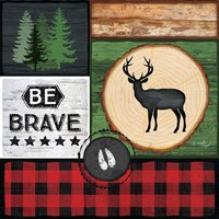 Be Brave Framed Print