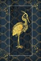 Gold Bird Framed Print