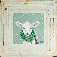 Lamb with Wreath Framed Print