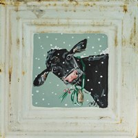 Cow with Bells Framed Print
