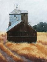 Hwy 12 Grainery Fine Art Print