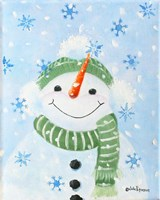 Falling Snowflakes Fine Art Print