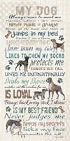 My Dog Panel Fine Art Print