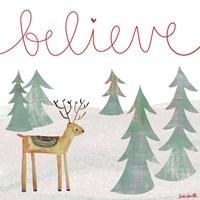 Believe Reindeer Fine Art Print