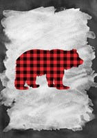 Plaid Bear Fine Art Print
