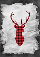 Plaid Deer Head Fine Art Print