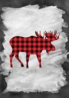 Plaid Moose Fine Art Print