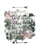 God is Within Her Floral Fine Art Print