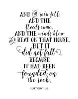 Matthew 7-25 Fine Art Print