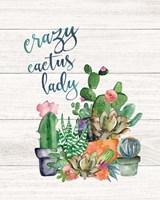 Crazy Cactus Lady Fine Art Print