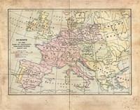 Vintage Napoleon Empire Map Fine Art Print