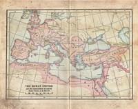 Vintage Roman Empire Map Fine Art Print