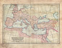 Vintage Roman Empire Map Fine Art Print