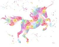 Unicorn White Fine Art Print